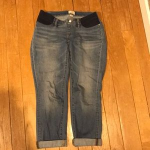 J Crew Slim Boyfriend Maternity Jeans 27